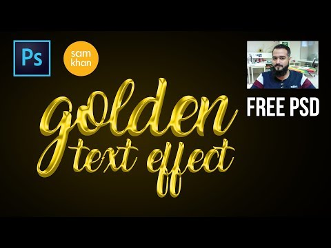 Photoshop tutorials | how to create Golden text effect in photoshop 2017 by samkhancreative