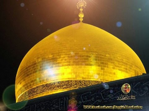 Miracle Happen on Arbaeen of Hazrat Imam e Hussain a.s at Shrine Syeda Hazrat Bibi Zainab a.s Roza (Shaam,Damcaus,Syria) at her top Doom , A Noor of (Masomee...