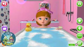 Fun Baby Care   Ava the 3D Doll Kids Games, Play Bath Dress up Feed   Learn Colors Games For Kids