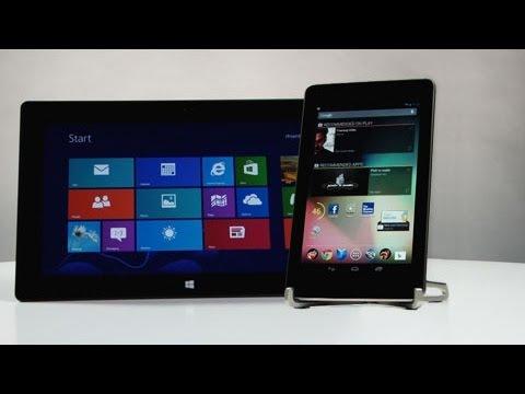 Microsoft Surface vs Nexus 7