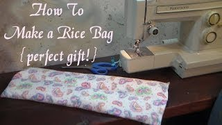 perfect handmade gift rice bag