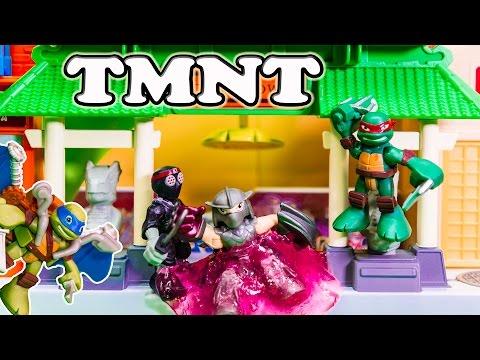 TEENAGE MUTANT NINJA TURTLES TMNT Leo & Raph Ninja in Half Shells a TMNT Video Toy Review