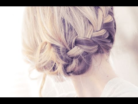 Pretty Side French Braid Updo