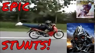Bike Stunts Videos Youtube Stunts EPIC motorcycle and