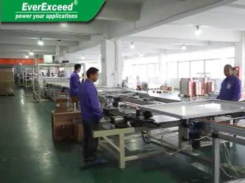 EVEREXCEED SOLAR MODULES PRODUCTION VIDEO