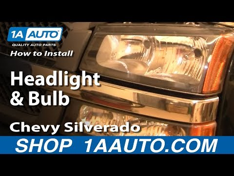 How To Install Replace Headlight and Bulb Chevy Silverado 05-07 1AAuto.com