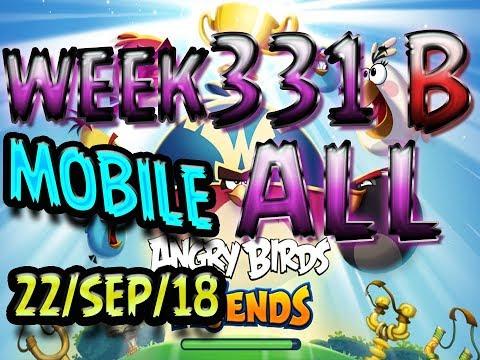 Angry Birds Friends Tournament All Levels Week 331-B MOBILE Highscore POWER-UP walkthrough