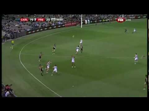 Smart Snap - Jeff Garlett Kick Starts Carlton - AFL - Smashpipe Sports Video