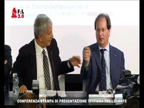 DIRETTA CONFERENZA STAMPA DI PRESENTAZIONE 77^ FIERA DEL LEVANTE
