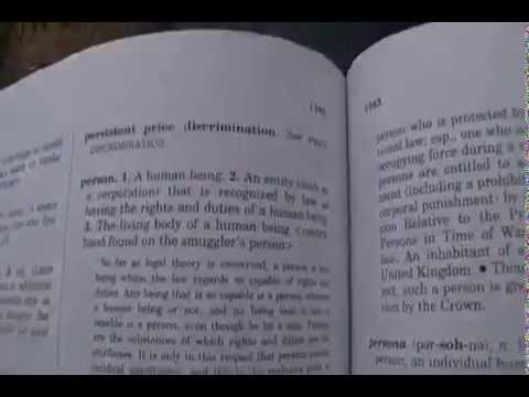 Copy of What is a Person-Black law dictionary