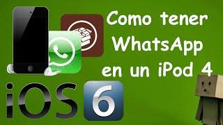 Como Tener WhatsApp En Un IPod 4 Con IOS 6.1.6 | Descargar Apps Gratis | Tutoriales Mata_13