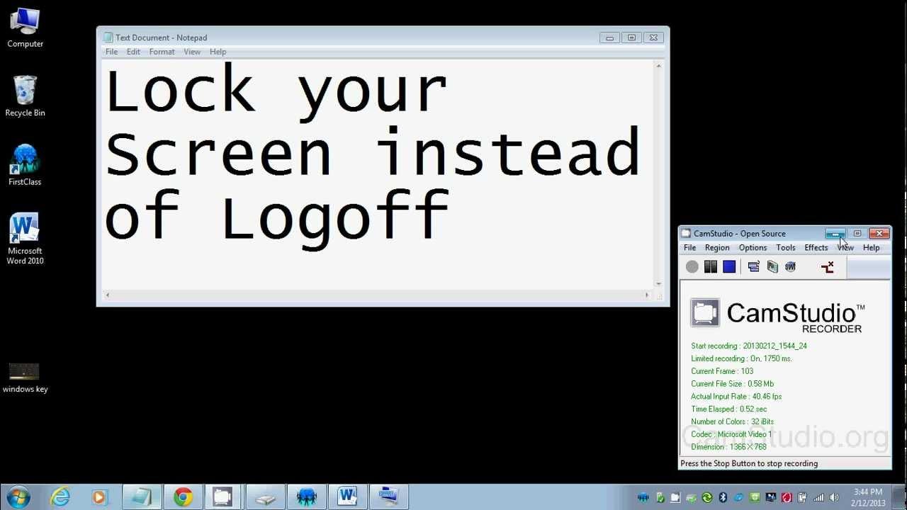 lock your laptop screen instead of logging off youtube. Black Bedroom Furniture Sets. Home Design Ideas