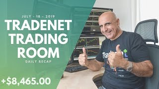 Tradenet Trading Room, July 18: Big Mistake On NFLX! Earned +$8,465.00 In Profits!