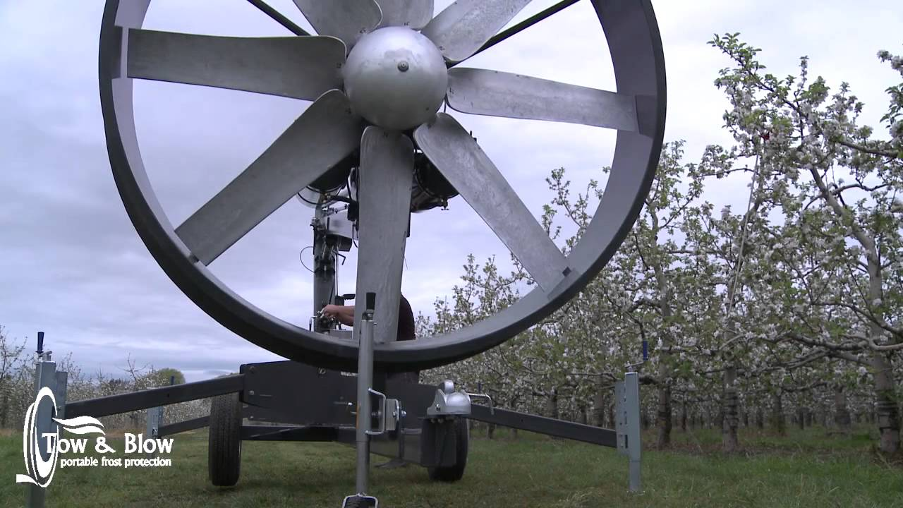 Frost Protection Wind Machine Fan Youtube