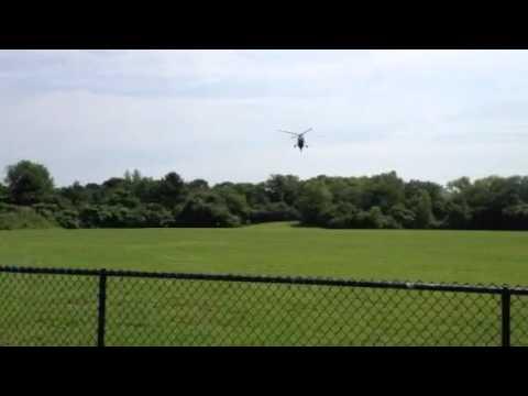 UH-34 landing at Village School Marblehead