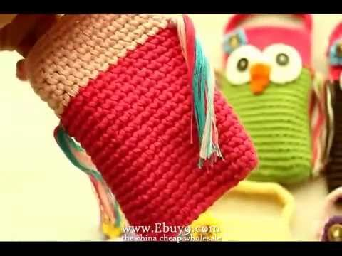 Cute Owl Crochet Handmade Knit Cell Phone Bag Covers