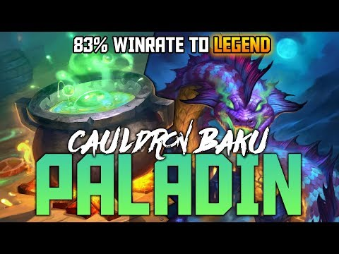 Legend with Cauldron Baku Paladin | The Witchwood | Hearthstone Expansion