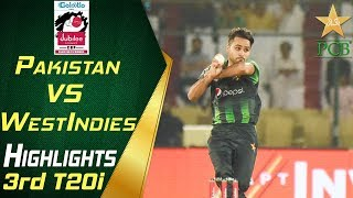 Highlights | 3rd T20i | Pakistan Vs Windies 2018 | Jubilee Insurance Cup 2018 | PCB