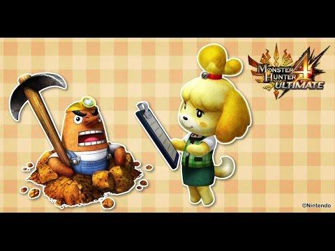 Monster Hunter 4 Ultimate - Animal Crossing Felyne Outfits video