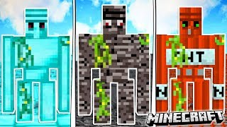 Make a GOLEM out of any BLOCK in MINECRAFT!!