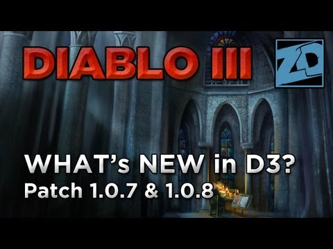 Diablo 3: What's Changed in Patch 1.0.7 & 1.0.8 (Mob Density. Party Play & Crafting)