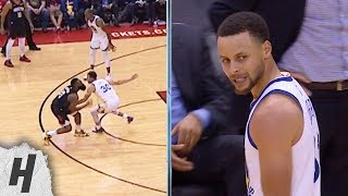 Steph Curry Doesn39t Like the Flop from James Harden - Warriors vs Rockets | March 13, 2019