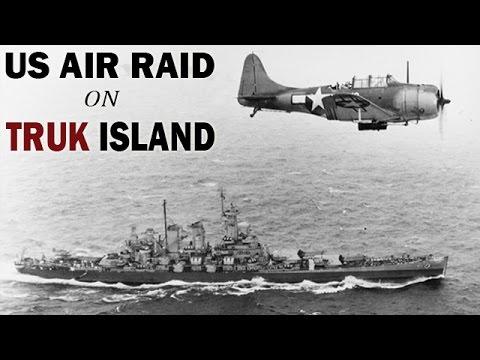 US Airstrike on the Japanese Held Truk Island | 1944 | World War 2 Air Combat Footage