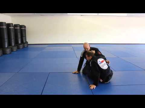 Training Jiu Jitsu - Sweeping And Guillotine From Butterfly Guard BJJ Video Image 1