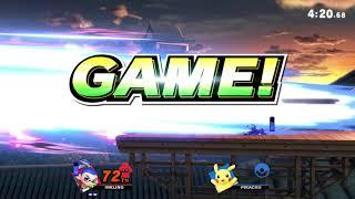Super Smash Bros. Ultimate Elite! J-AERIAL (Inkling) VS Pikachu