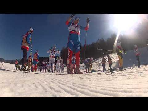 World ski championship. 50k start