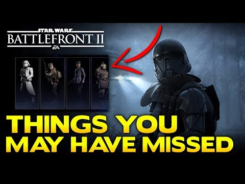New Battlefront 2 Trailer - Things You May Have Missed Part 2 (Weapons, Classes & More)