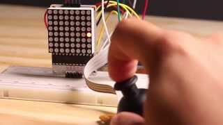 Arduino 2-axis Joystick and 8x8 LED tutorial