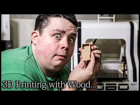 3D Printing with Wood Filament on Robo 3D Printer - Looks, Smells & Feels like Wood