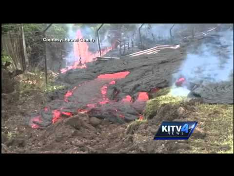 USGS scientists track smoke from lava