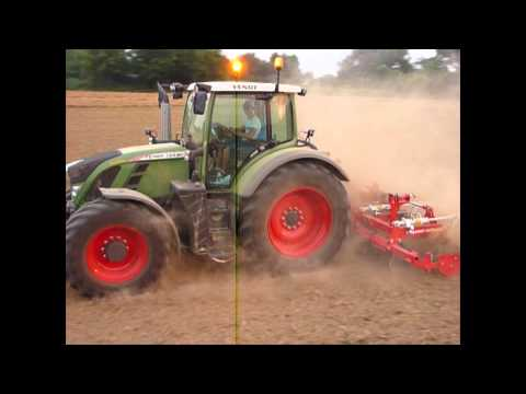 FENDT 724 + POTTINGER TERRADISC 4001 K -soil preparation 2015-