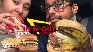 In-N-Out MUKBANG | 4x4 Burger | Double Double Cheeseburger | Animal Style Fries | Vanilla Milk Shake