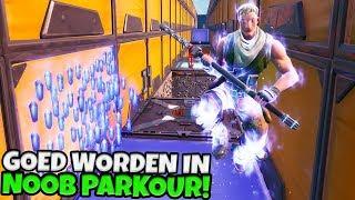 GOED WORDEN IN NOOB PARKOUR! - Fortnite met Duncan