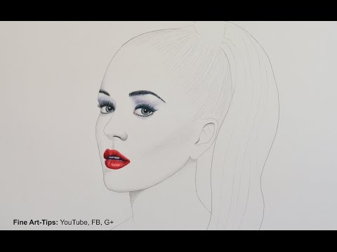 Katy Perry - How to Draw a Minimalistic Portrait
