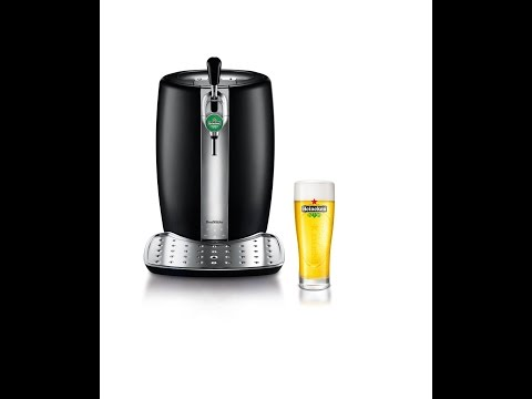 Review: KRUPS and HEINEKEN B100 BeerTender with Heineken Draught Keg Technology.Black