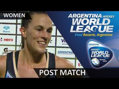 Post Match Interview Carla Rebecchi #HWL2015 #Rosario