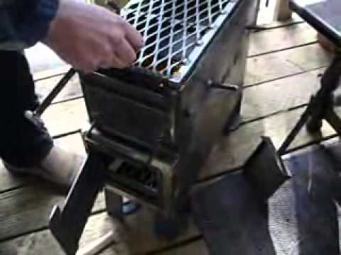 Home survival ammo can heat!  Wood stove short version by Freedoms Garden