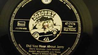Watch Harry Belafonte Jerry (this Timber Got To Roll) video