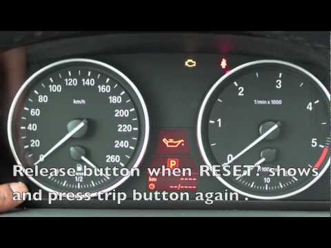 How to Reset the 2006-2011 BMW Maintenance Light (oil. brake. service)