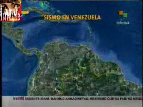 Sismo de Venezuela captado por las cámaras de TV