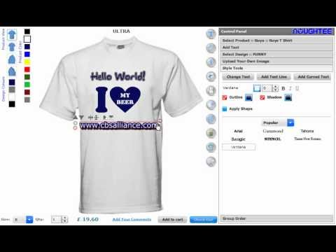 Online custom t shirt maker software and application for Make photo t shirt online