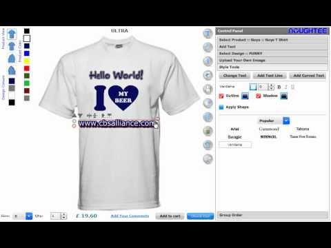 Online Custom T Shirt Maker Software And Application