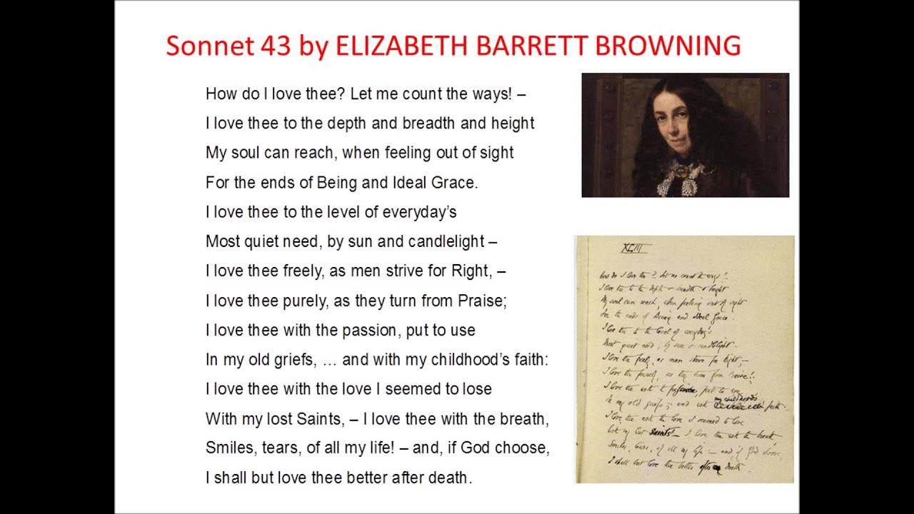 elizabeth browning sonnet 43 essay