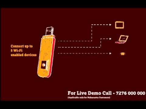 Introducing Tata Docomo Photon Max Wi-fi Data Card video