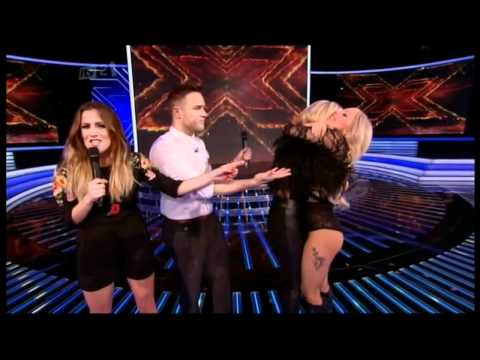 Lady Gaga runs on stage to hug Kitty Brucknell (Xtra Factor) HD FULLSCREEN