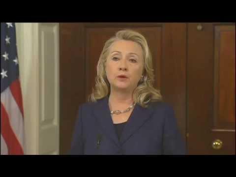 Hillary Clinton condemns Benghazi Libya embassy attack